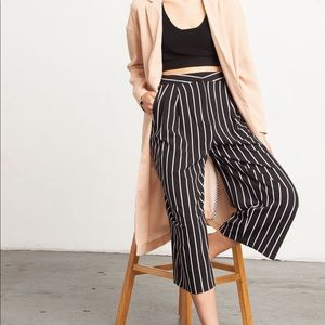 Black Striped Culottes Small